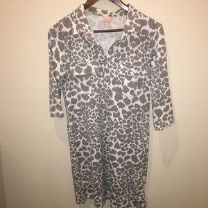 Women's Persifor Winpenny Grey Leopard Print Dress